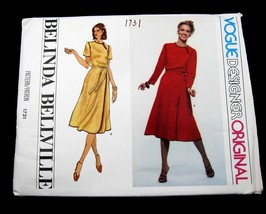 Vogue Designer Original Belinda Bellville Size 14 Sewing Pattern 1731 Un... - $19.79