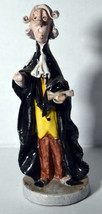 "Vintage 8"" Italy Porcelain Statue Judge in Black Robe Office Desk Gift - $18.99"