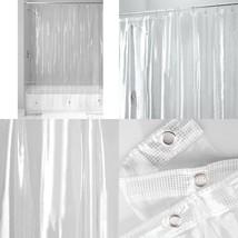 Shower Curtain Liner Clear Vinyl 72 X 84 Bathroom Bathtub Tub Magnets Ex... - $16.65