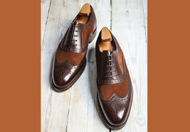 Superior Coffee Brown Tone Leather Men Formal Dress Rounded Toe Oxford Shoes - $139.90+