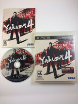 Yakuza 4 (Sony PlayStation 3, 2011) CIB Very Good with manual - $24.12
