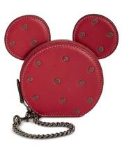 Coach Minnie Mouse Coin Case Bag Charm ~Nib~ Red Gift Box 37539B - $106.92