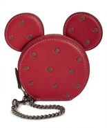 COACH Minnie Mouse Coin Case Bag Charm ~NIB~ Red Gift BOX 37539B - $106.92