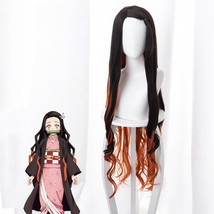 Demon Slayer: Kimetsu no Yaiba Kamado Nezuko Cosplay Wavy Wig Brownish T... - $26.80