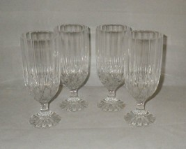 Cristal d'Arques BRETAGNE Pattern Crystal Iced Tea Glasses Goblets ~ Set of 4 - $43.00