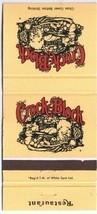 Crock and Block Restaurant Matchbook Cover - $1.89