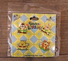 Disney 4 Pin Set Spring Shanghai Disneyland Park 2018 Chip Dale Tigger Pooh - $14.93