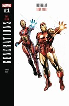 GENERATIONS IRON MAN & IRONHEART #1 REG AND VARIANT COVERS EST REL DATE ... - $9.98