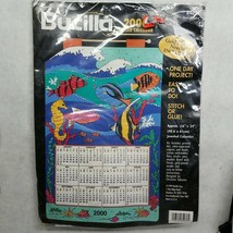 Bucilla 2000 Jeweled Calendar Kit #84036 Ocean Paradise 16x24 Inches - $7.27