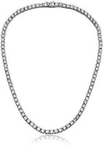 NYC Sterling Women 4MM Round Prong Cubic Zirconia Tennis Necklace (30) - $84.91