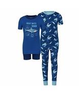 Kirkland Signature Kids Boys 4 Piece Short Sleeve Shirt Short Pajama Set... - $19.80