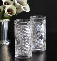 "RALPH LAUREN ""ARGYLE"" SET OF 17 HIGHBALL & DOF LEAD CRYSTAL MADE IN GERMANY NEW - $2,549.90"