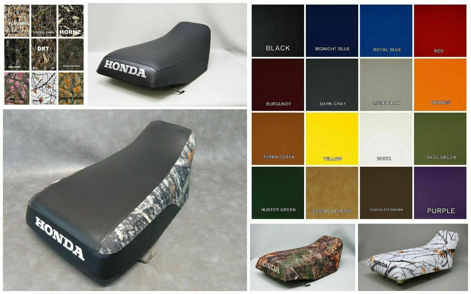 Primary image for HONDA TRX450 FOREMAN  Seat Cover 1998-2004 in BLACK,  25 Colors & 2-tone (ST)