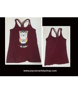 Justice BE FREE Sparkly Tank Top Owl NWT Sz 18 Red - $8.99
