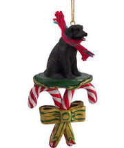 LABRADOR RETRIEVER (black) LAB  DOG CANDY CANE CHRISTMAS ORNAMENT HOLIDA... - $14.95