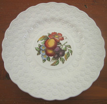 Copeland Spode Luncheon Plate Ring 9¼ Fruit Bouquet Embossed Daisies Eng... - $28.44