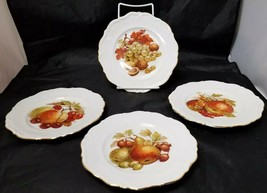 Winterling Roslau Salad Plates Set of 4: Bavaria, Fruit Apple Pear Grape... - $22.24