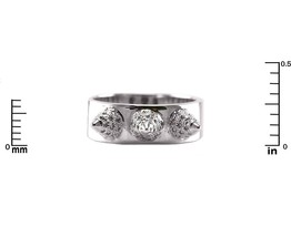 Glitzy Pave AAA Cubic Zirconia Triple Spike Rhodium Plated Band Ring - $29.99