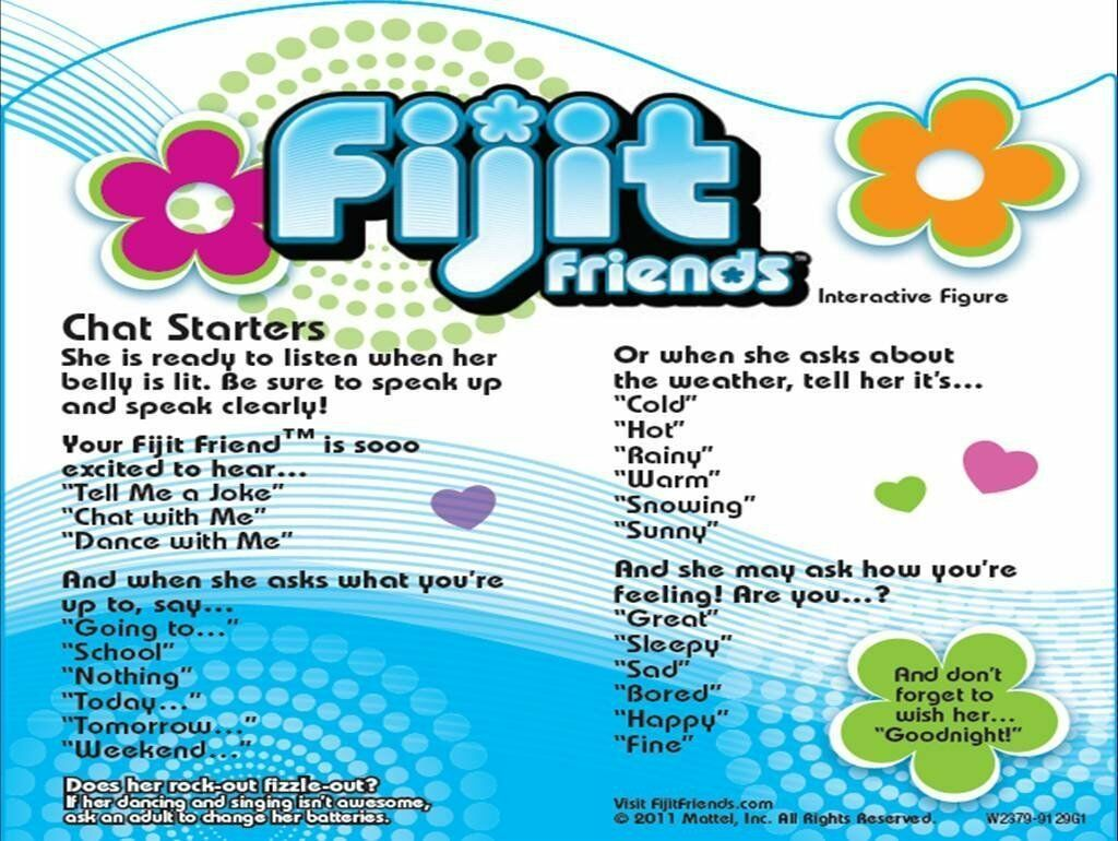 Fijit Friends SERAFINA Interactive Electronic Toy Works w/ Ears, Motion, W2378