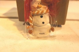 CHRISTMAS ORNAMENTS WHOLESALE- SNOWMAN- 13348 -'NOAH'-  (6) - NEW -W74 - $5.83