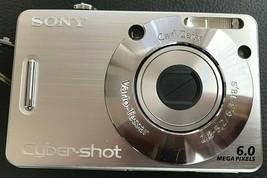 Sony-Cyber Shot Carl Zeiss 6.0 Mega Pixels Digital Camera & 2 Batteries #DSC-W50 - $19.79