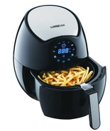Electric Air Fryer, Oil-Less, Low Fat, Black, 1400W 4th Generation + Rec... - $168.58 CAD