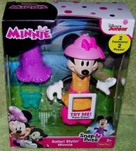 Disney Junior Minnie Mouse Safari Stylin' Minnie Snap n' Pose New - $15.50