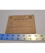 Home Treasure 255209 War Ration Book Four Coupons Biddeford Maine Donald... - $18.99