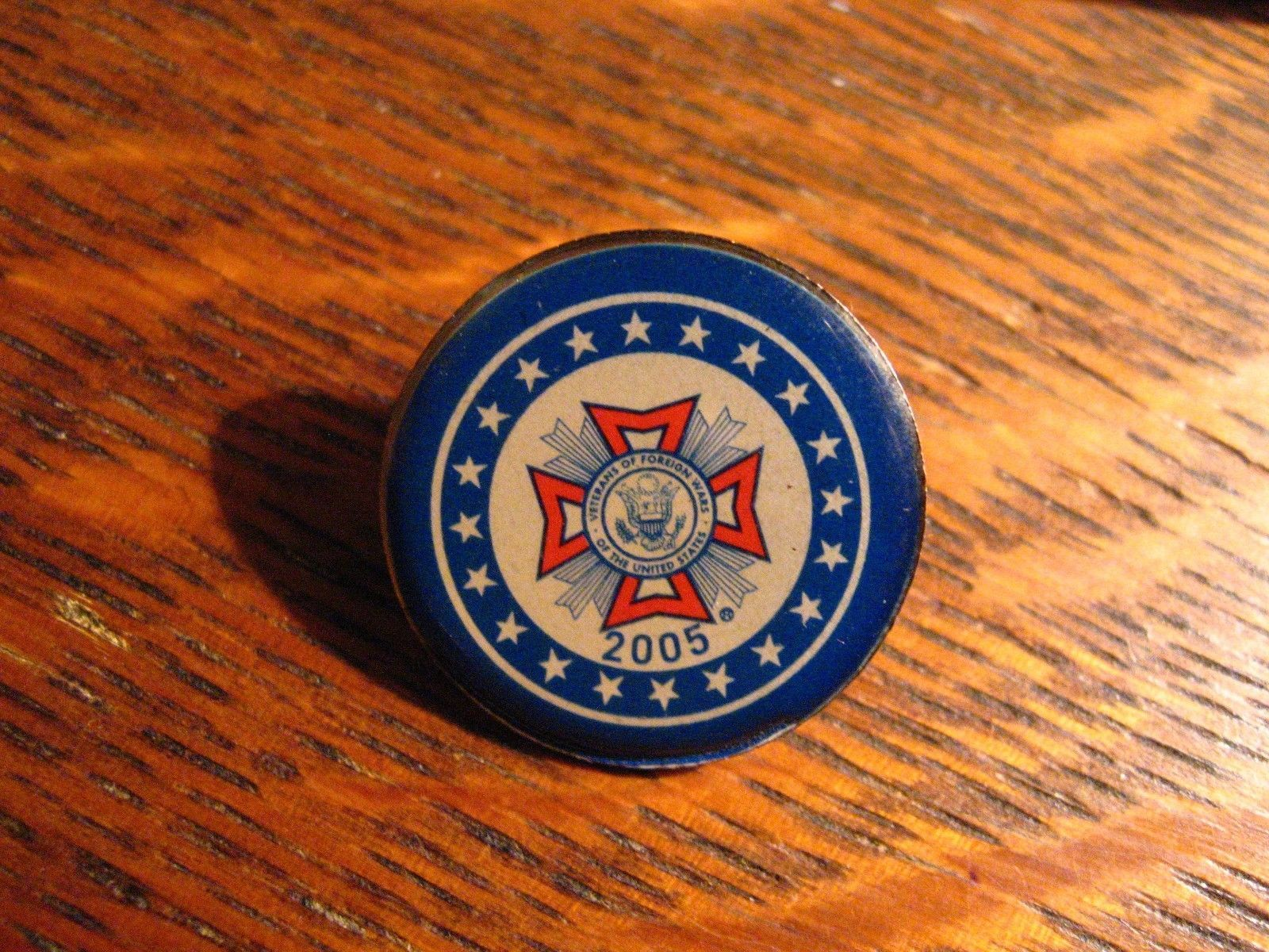 VFW Lapel Pin - Vintage 2005 USA Veterans Of Foreign Wars Military American Pin