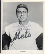 GIL HODGES, NEW YORK METS, Autographed Photo. Nicely signed. - $371.25