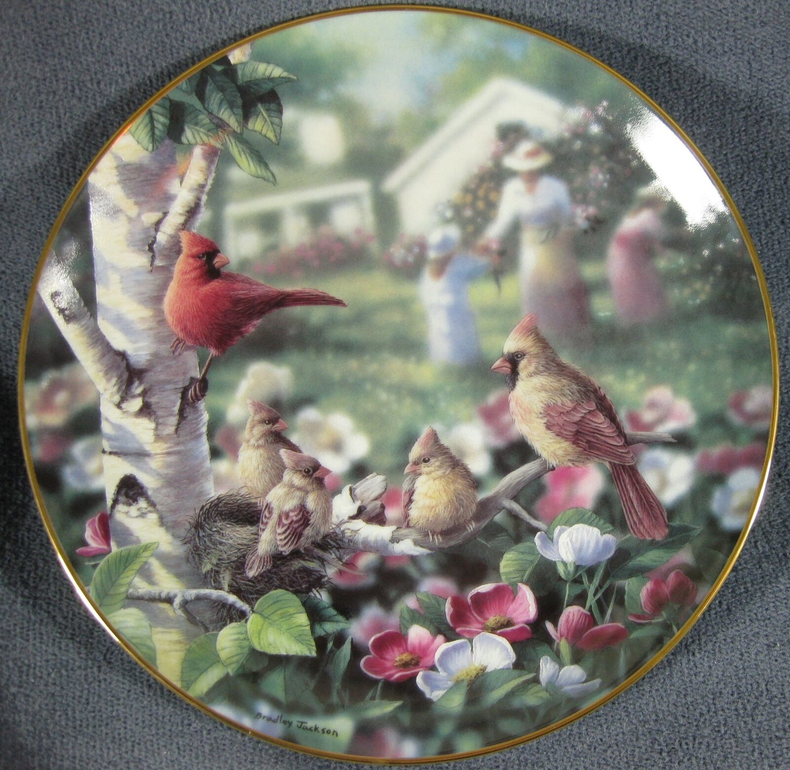 Primary image for Beauty In Bloom Collector Plate Family Album Bradley Jackson 1993 Danbury Mint