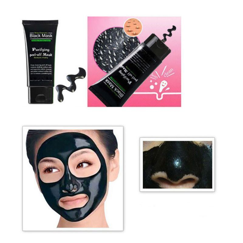 Blackhead Remover Deep Cleansing Purifying Acne Peel Black Mud Face Mask!