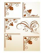 Flourish Corners-ClipArt-Digital ArtClip-Backgr... - $3.85