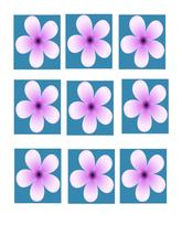 Purple Flower Vector Background-ClipArt-Digital... - $3.00