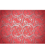 Red Artistic Flower Design Background-ClipArt-D... - $3.00