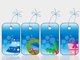 Set of Christmas Sale Tag-ClipArt-Digital ArtCl... - $4.00