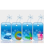 Set of Christmas Sale Tag-ClipArt-Digital ArtCl... - $3.00
