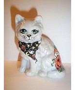 Mosser Glass OOAK Halloween Cat by Fenton Artis... - $86.33