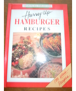 3Favorite All Time Recipes Hurry Up Hamburger Recipes Hardcover 1990 - $1.99