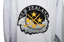Custom Name # Team New Zealand Retro Hockey Jersey New White Dittman 32 Any Size image 3