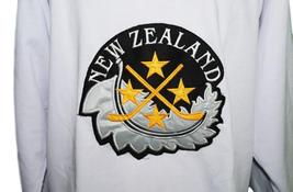 Any Name Number Team New Zealand Retro Hockey Jersey New White Any Size image 4