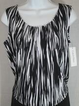 calvin klein black/white Blouse Size m - $17.81