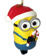 Dave- Despicable Me-Minion Ornament-Santa Hat and Candy Canes-Holiday! - $7.71