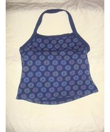 Fresh Produce Top L Navy All Over Daisies Active Halter Top - $15.99