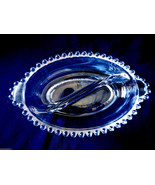 VTG Imperial Clear Glass Candlewick Divided Oval Serving Dish with handles - $29.70