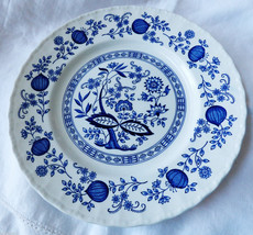 "Wedgwood England Blue Heritage pattern porcelain 10"" Dinner Plate - $34.65"