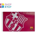BARCELONA FC LARGE RED FLAG ROOM  OFFICIAL FOOTBALL SOCCER CLUB NEW - $11.18