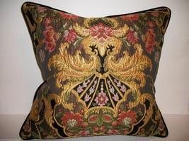 Aubusson Tapestry Chenille Lampas Pillow ~ 22 X 22 - $285.00