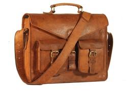Men's Vintage Genuine Leather Messenger Shoulder Laptop Bag briefcase bag - $79.20