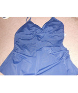 jaclyn smith navy blue top  SwimSuit tankini Sz 6  or 12 New nwt  - $9.49